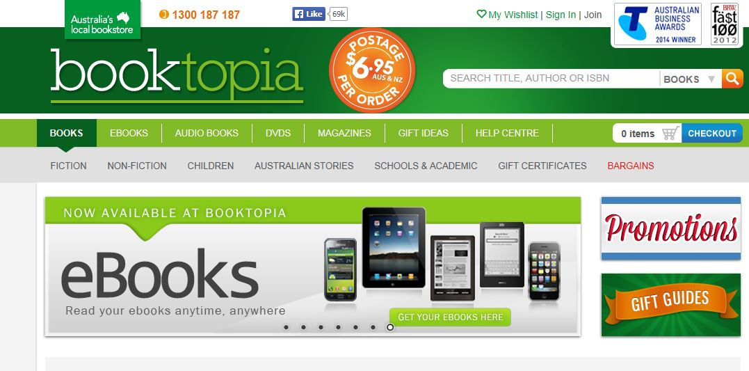 Booktopia Promo codes at HotOZ