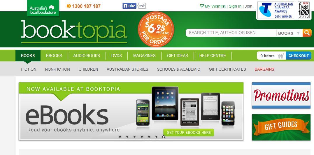 Booktopia Promo codes at HotOZ