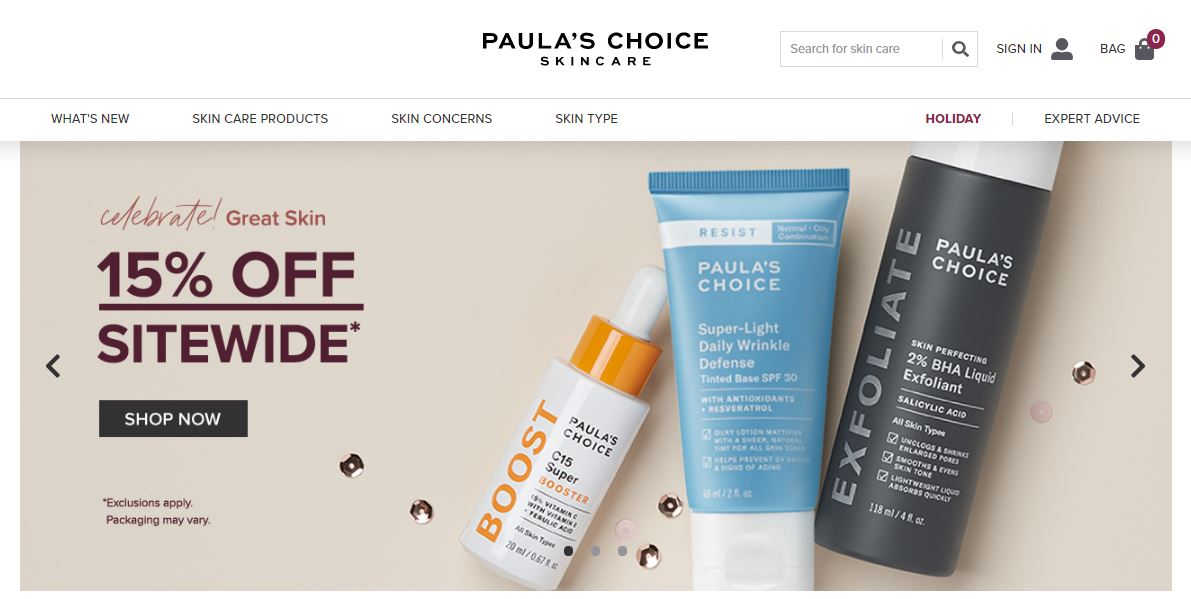 Paulas choice Coupon at HotOz