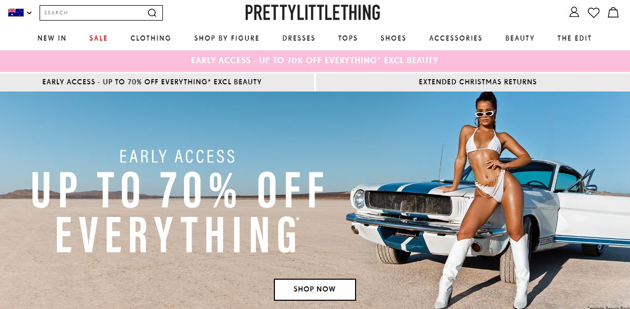 PrettyLittleThing Discount codes at HotOz