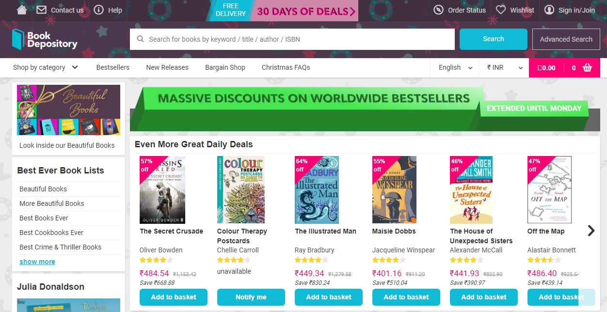 The Book Depository discount codes at HotOz