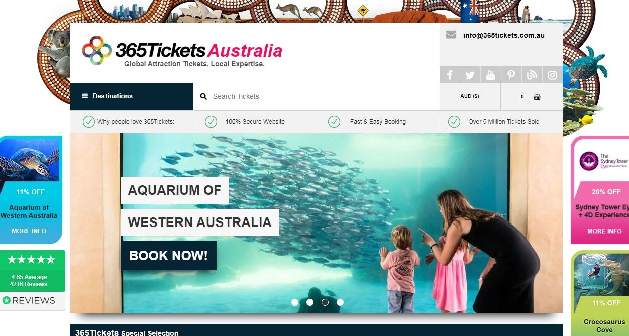 365 Tickets Coupon codes at HotOzcoupons.com.au