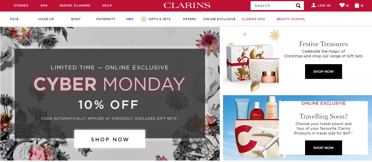 Clarins Promo codes at HotOzcoupons
