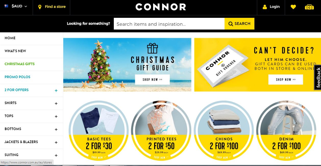 Connor Discount codes at HotOzcoupons.com.au