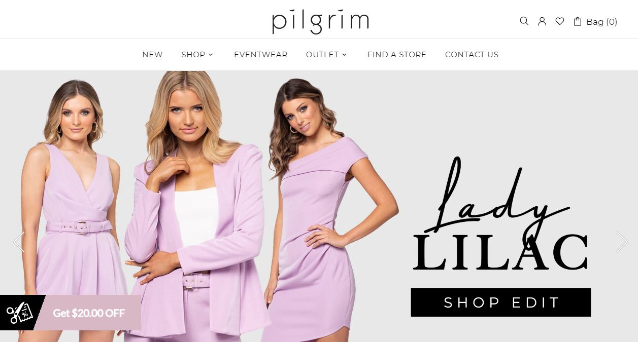 Pilgrim Clothing Coupon codes at HotOz