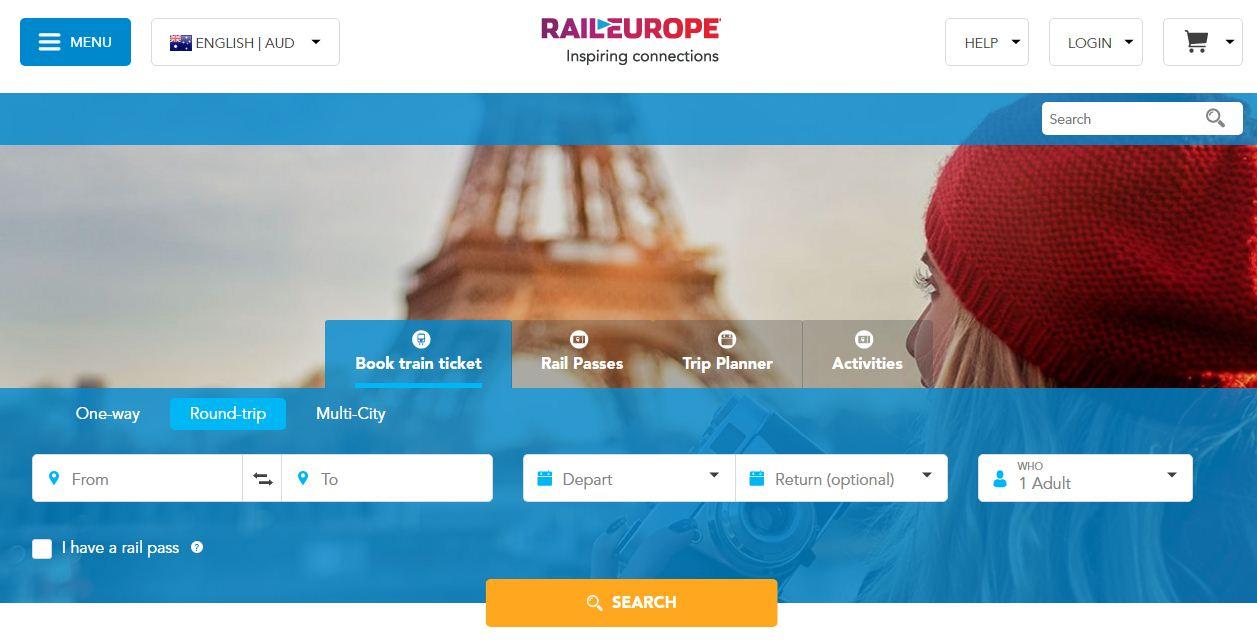 RailEurope coupon codes at HotOz