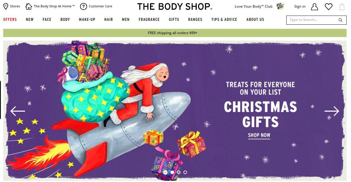 The Body Shop Promo codes at HotOz