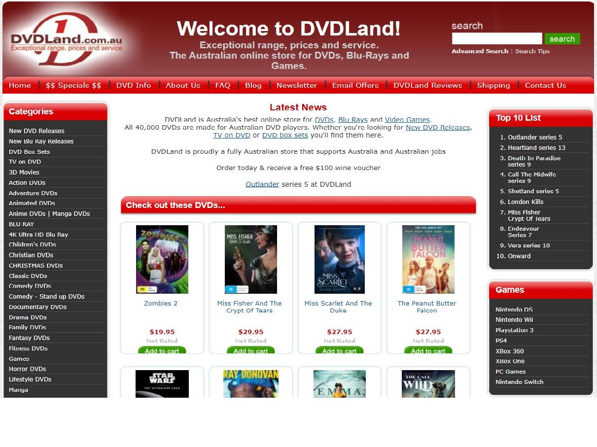 DVDLand Promo codes at HotOz