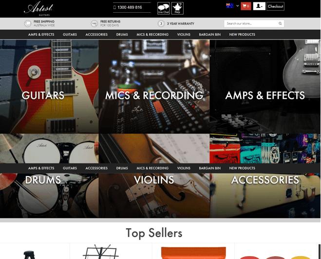 Artist Guitars Promo codes at HotOz