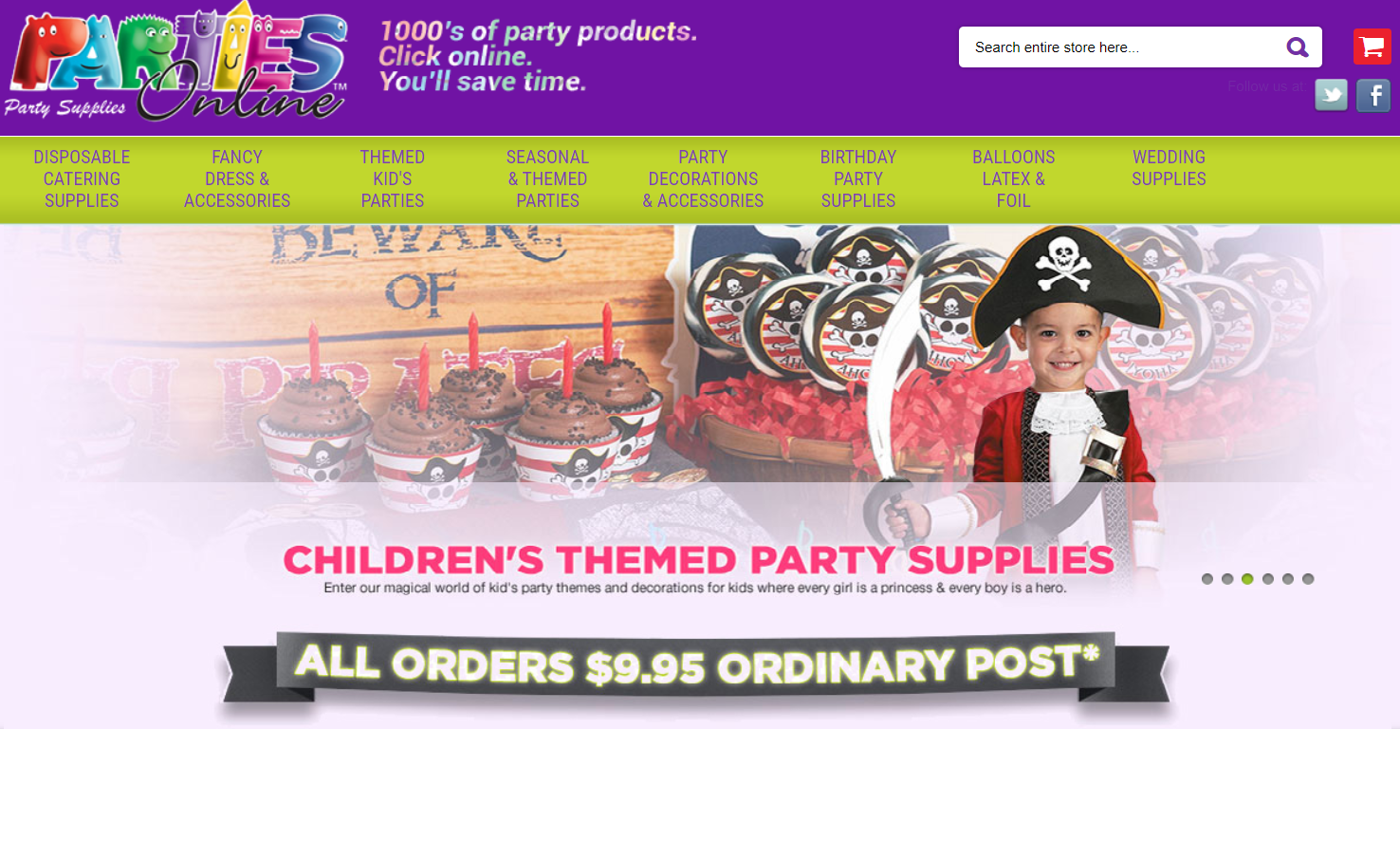 Parties Online Promo codes at HotOz