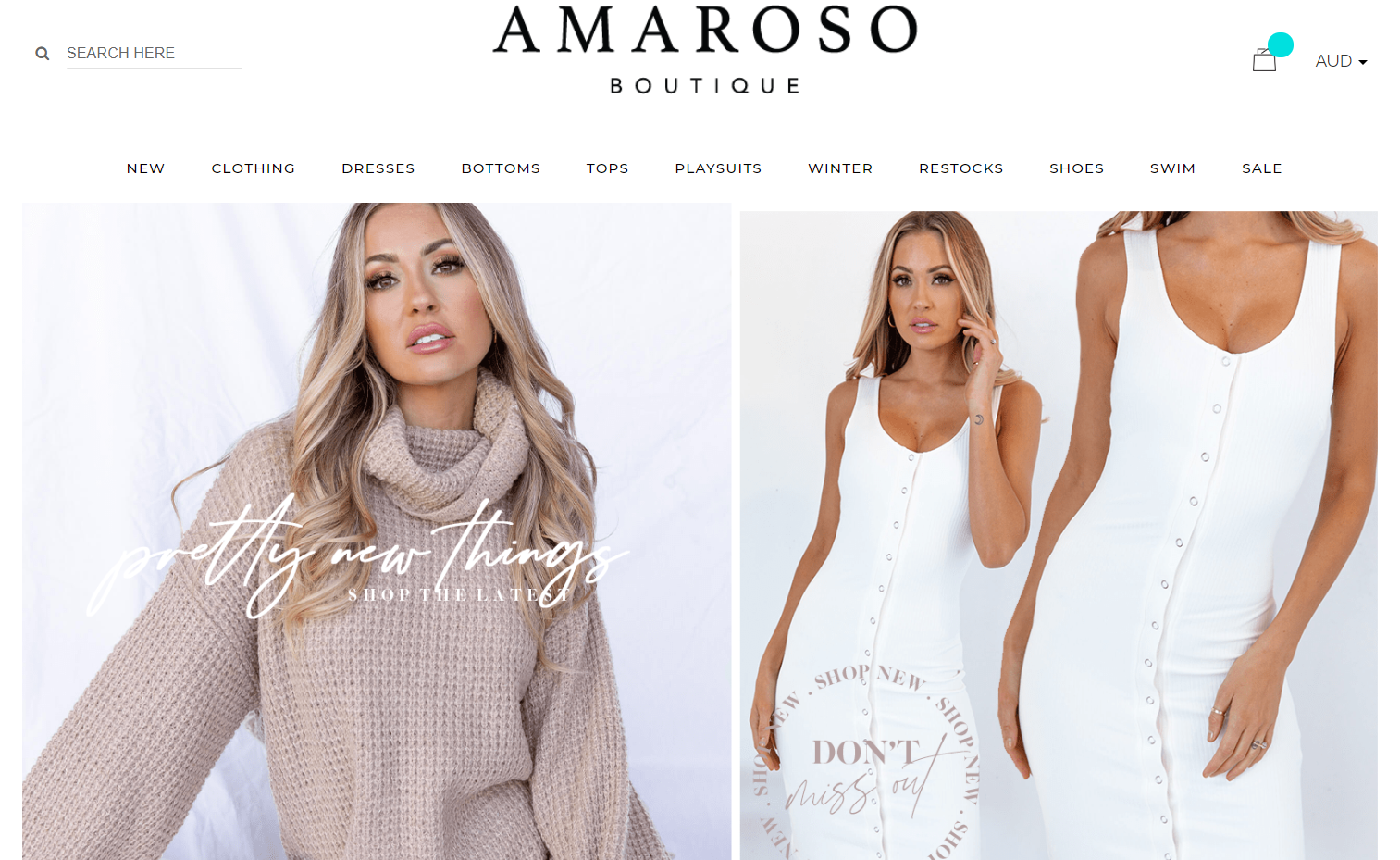 Amaroso Boutique Promo codes at HotOz