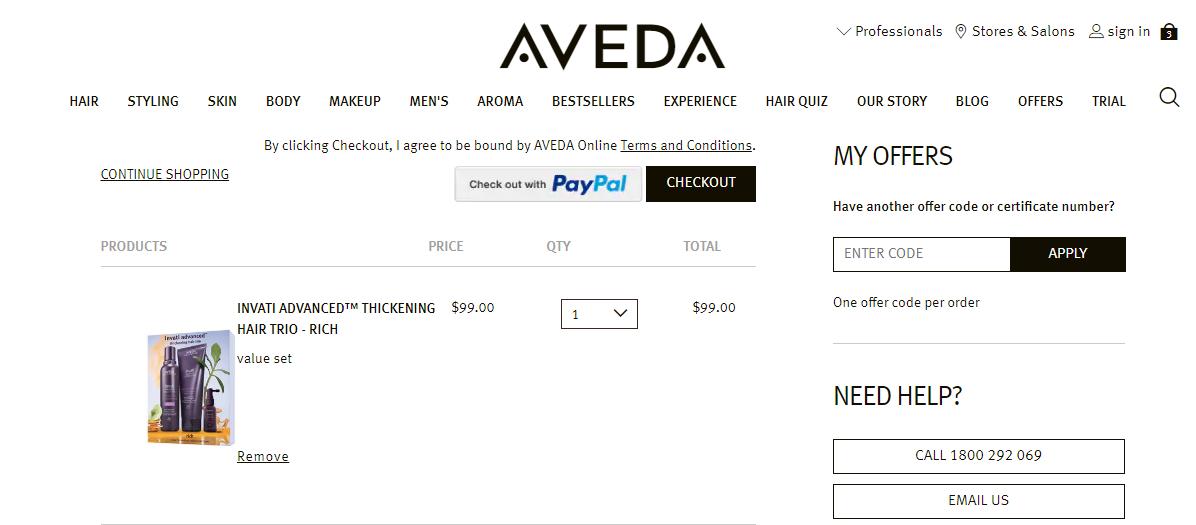 Aveda Promo codes at HotOZCoupons