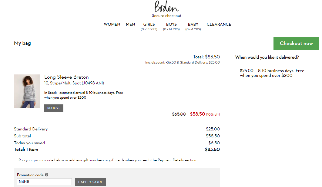 Boden Discount codes at HotOZCoupons