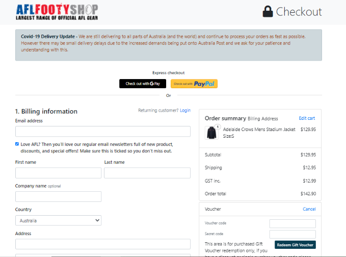 AFL Footy Shop  Discount codes at HotOZCoupons