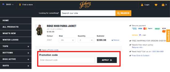 Johnny Bigg  Discount codes at HotOZCoupons
